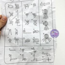 Bộ 70 bong bóng dài tạo hình nghệ thuật Thái Lan & dụng cụ bơm
