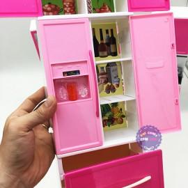 Hộp đồ chơi nhà bếp pin 4 ngăn: Tủ lạnh,bồn rửa,lò nướng,tủ bếp 6925