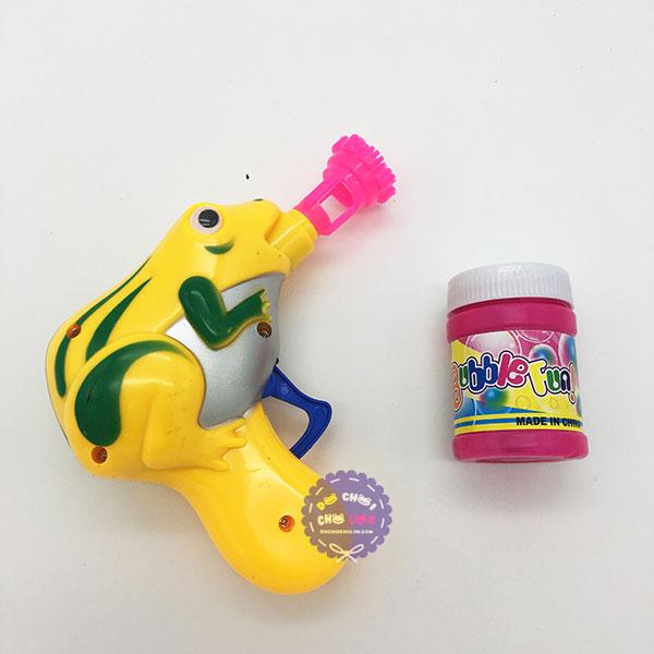Vỉ đồ chơi súng thổi bong bóng xà phòng hình chú ếch