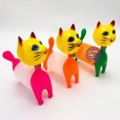 Đồ chơi chú mèo phát ra âm thanh khi bóp kêu bằng nhựa