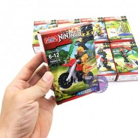 Bộ 8 hộp đồ chơi lắp ráp Ninjago Moto bằng nhựa 76055