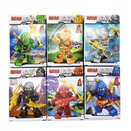 Bộ 6 hộp đồ chơi lắp ráp Robo Ninja trắng bằng nhựa 76061
