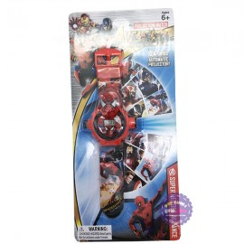 Vỉ đồ chơi đồng hồ người nhện chiếu hình ảnh lên tường