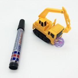 Hộp đồ chơi xe công trình cảm ứng chạy theo nét bút vẽ (kèm bút + Pin)