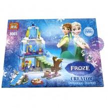 Hộp đồ chơi lắp ráp lâu đài công chúa Frozen 343 miếng 8001A
