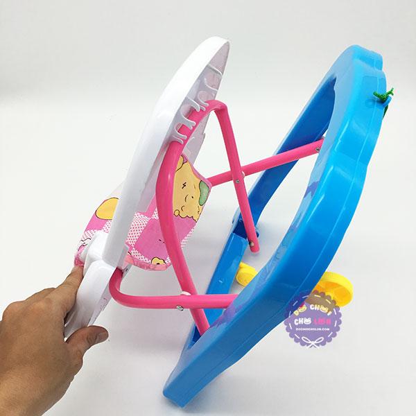 Đồ chơi xe tập đi cho búp bê có dây kéo bằng nhựa