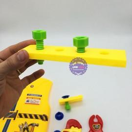 Bộ đồ chơi áo thợ công trình & dụng cụ sửa chữa