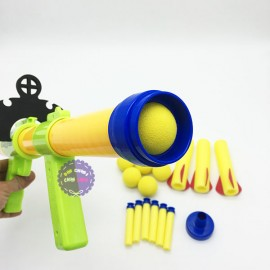 Hộp đồ chơi súng thụt banh 8 trái bằng nhựa 81000A