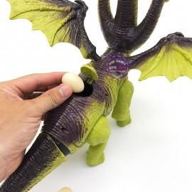 Hộp đồ chơi khủng long 3 đầu cổ dài có cánh đẻ trứng 820B