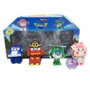 Hộp đồ chơi 4 Robocar Poli biến hình thành xe ô tô 83168LP