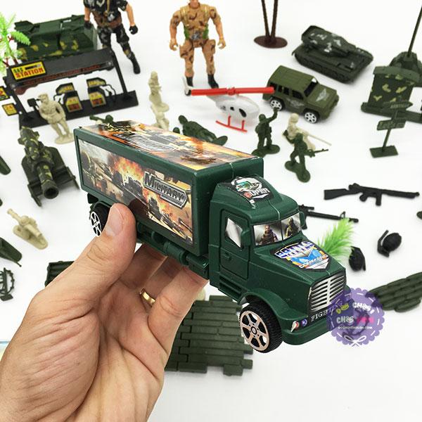 Ba lô đồ chơi mô hình quân sự lính nhựa Military Series