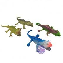Bộ đồ chơi 4 loài bò sát: 3 tắc kè, 1 cá sấu bằng nhựa Insect