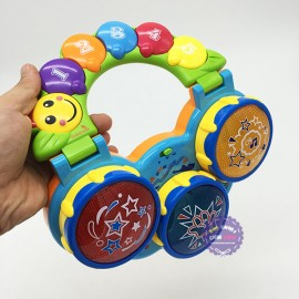 Hộp đồ chơi đàn cầm tay 3 trống dùng pin có nhạc đèn