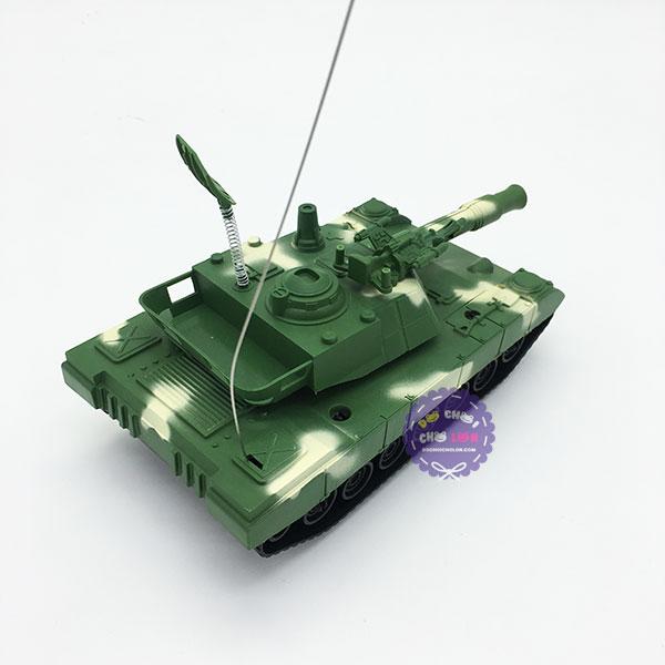 Hộp đồ chơi xe tăng điều khiển từ xa 2 kênh chạy pin có đèn