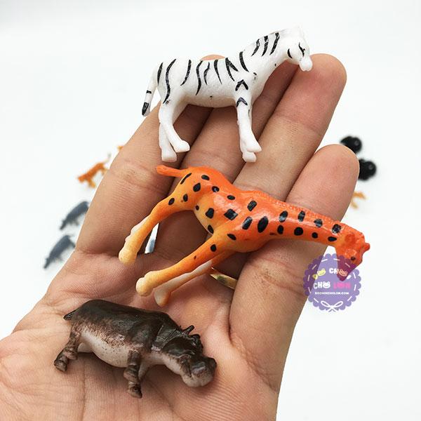 Bộ đồ chơi 36 loài thú rừng mini bằng nhựa Wild Animals