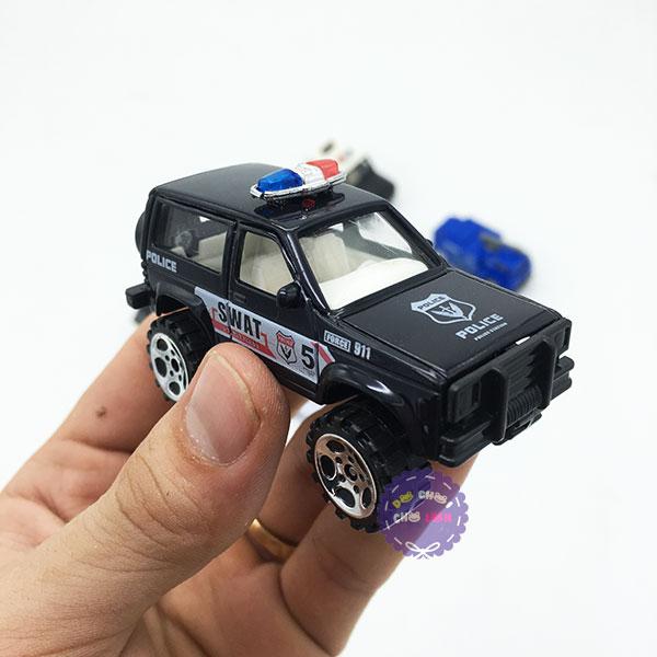 Hộp đồ chơi các loại xe cảnh sát bằng sắt 6 chiếc 1:87