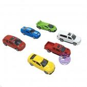 Hộp đồ chơi các loại xe Lamborghini bằng sắt 6 chiếc 1:64