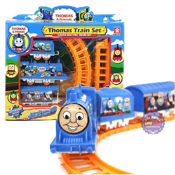 Hộp đồ chơi đường ray xe lửa tàu hỏa Thomas chạy pin