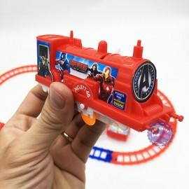Hộp đồ chơi đường ray xe lửa tàu hỏa Avengers chạy pin