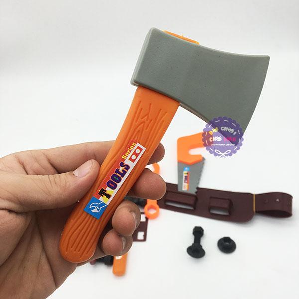 Bộ đồ chơi nón bảo hộ & dụng cụ sửa chữa có dây đeo túi lưới