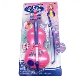 Vỉ đồ chơi đàn vĩ cầm Violin kéo dùng pin có nhạc bằng nhựa