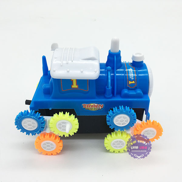 Hộp đồ chơi xe lửa Thomas nhào lộn 12 bánh lật chạy pin