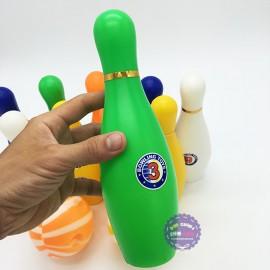 Bộ đồ chơi bowling 10 trái màu & 2 bóng nhựa loại lớn