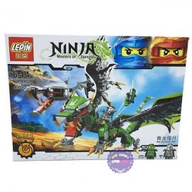 Hộp đồ chơi lắp ráp rồng có cánh Ninja Lepin 433 miếng 8901
