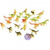 Bộ đồ chơi 24 loài khủng long tuyệt chủng mini bằng nhựa Dinosaur