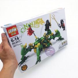 Hộp đồ chơi lắp ráp Robot rồng Ninja Lepin 2 in 1 307 miếng 8913