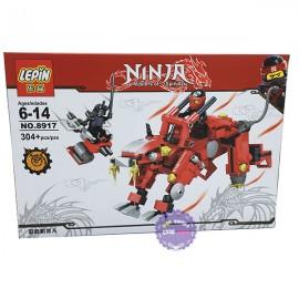 Hộp đồ chơi lắp ráp Robot Ninja Lepin 304 miếng bằng nhựa 8917