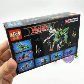 Bộ 6 hộp đồ chơi lắp ráp Ninja Lepin bằng nhựa 8919