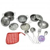 Hộp đồ chơi nấu ăn bằng inox 12 chi tiết & tạp dề