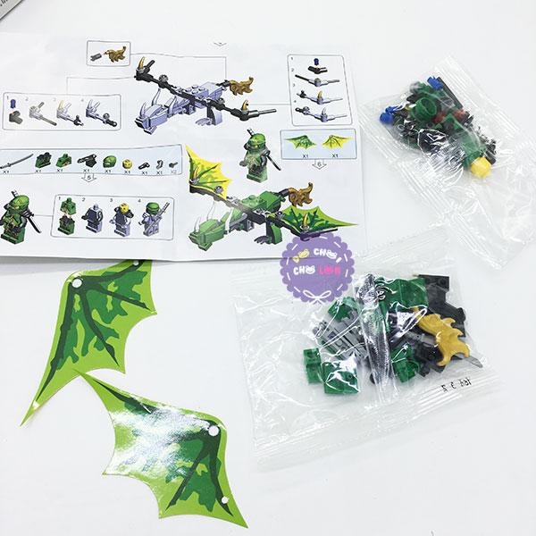 Bộ 6 hộp đồ chơi lắp ráp rồng Ninja Lepin bằng nhựa 893