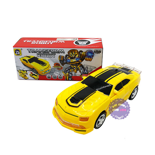 Hộp đồ chơi xe hơi ô tô biến hình Robot Transform có đèn nhạc 8986
