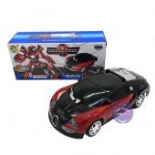 Hộp đồ chơi xe Bugatti biến hình Robot Mecha Ares có đèn nhạc 8987