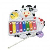 Đồ chơi đàn gõ organ hình con bò sữa & đồng hồ