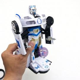 Hộp đồ chơi xe cảnh sát biến hình Robot Mech Pioneer có đèn nhạc 8990