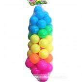 Đồ chơi banh nhựa nhiều màu 50 trái túi lưới (5cm)