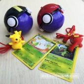 Bộ đồ chơi 2 quả cầu Pokemon, thú & thẻ bài