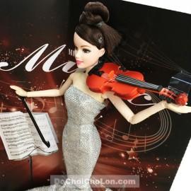 Hộp đồ chơi búp bê đàn Violin mặc đầm dạ hội đuôi cá 11 khớp nối