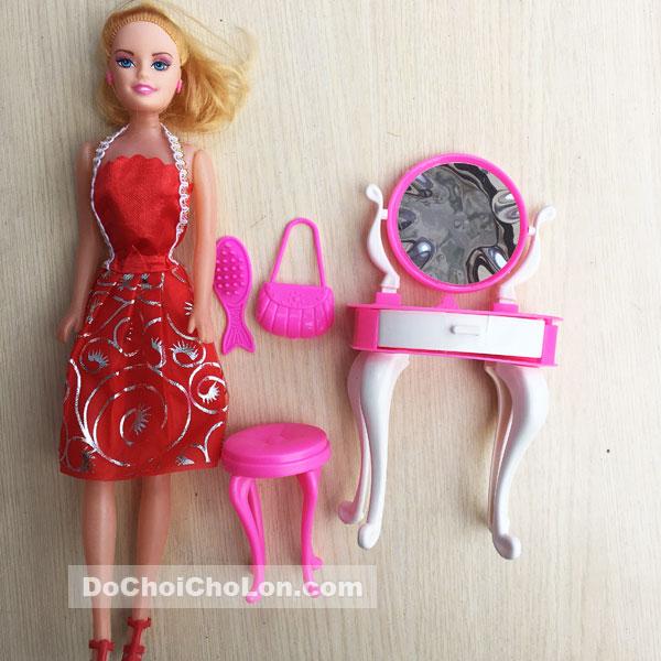 Bộ đồ chơi búp bê gái & bàn ghế trang điểm