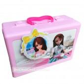 Hộp đồ chơi vali quần áo búp bê Lelia