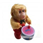 Đồ chơi khỉ con đánh trống vặn cót