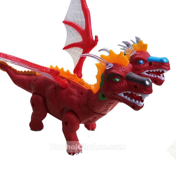 Hộp đồ chơi khủng long rồng có cánh 2 đầu đẻ trứng Dinosaur