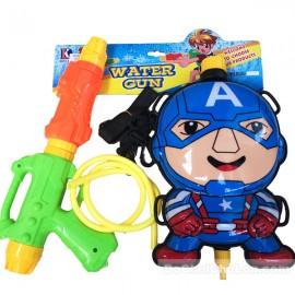 Bộ đồ chơi súng thụt nước & ba lô dự trữ nước Captain America