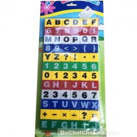 Vỉ đồ chơi xếp hình học chữ và số 72 mảnh