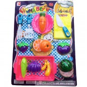 Vỉ đồ chơi nhà bếp Kitchen rổ trái cây cắt