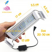 Đèn LED máng Xuan Mei Long 2 dãy TRẮNG cho hồ cá size 20 - 30 cm