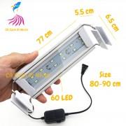 Đèn LED máng Xuan Mei Long 2 dãy TRẮNG cho hồ cá size 80 - 90 cm